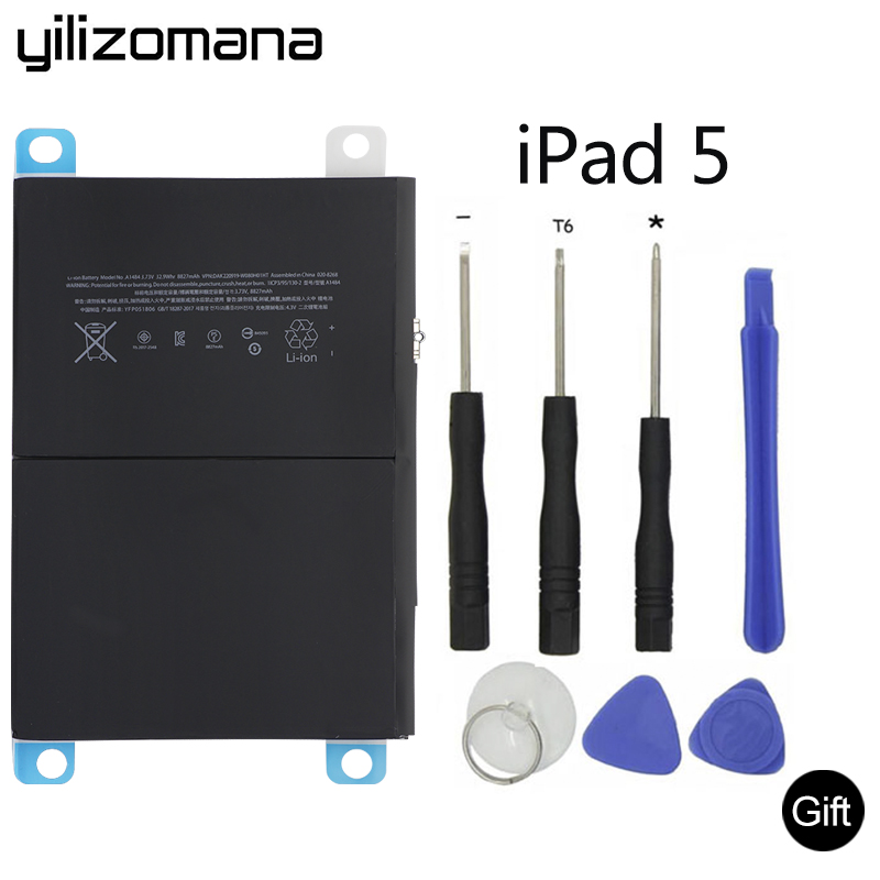 New 8827mAh Li-ion Internal Battery Replacement for ipad 5 Air A1484 A1474 1475 with Free Repair Tools