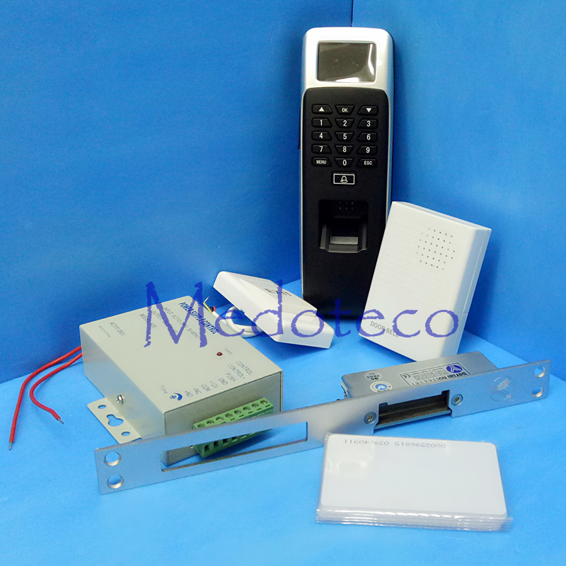 DIY Long Type Fail Secure NO Strike Door Lock Fingerprint Door Access Control Kit Full Biometric & Rfid Access Control System