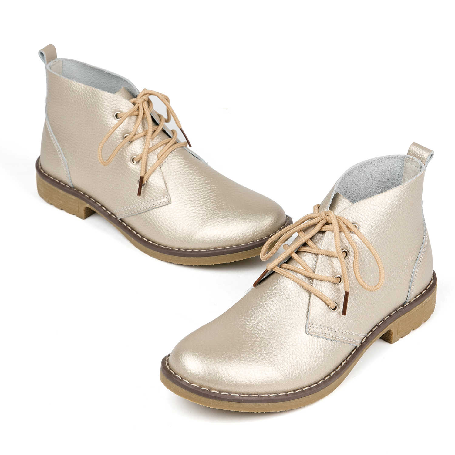19597892c7a WeiDeng Genuine Leather Ankle Boots Women Classic Matin Fashion Flats  Winter Lace Up High Top Casual Waterproof Shoes Female