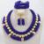 Shinny Prata Indiano Conjunto de Jóias de Casamento De Cristal De Noiva Colar Brincos Set Declaração Jóias Presente Frete Grátis WD044