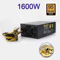 1600W Bitcoin Mining Machine ATX Power Supply For BTC ETH Antminer S7 S9 D3 R4 New
