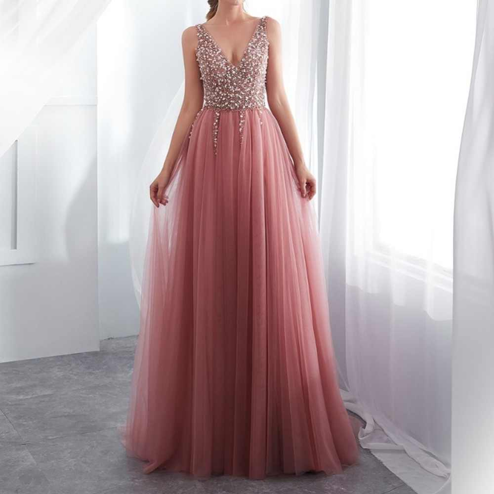 35a4082542a6f Detail Feedback Questions about BeryLove Long Prom Dress Gold Sequin ...
