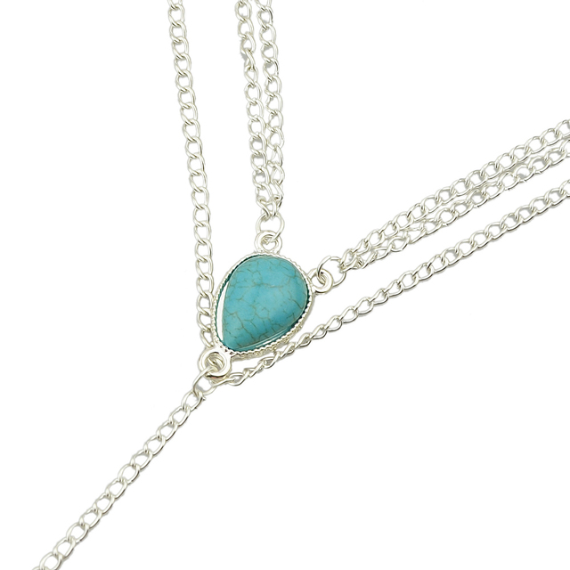 Leg chain with Big Turquoise stone