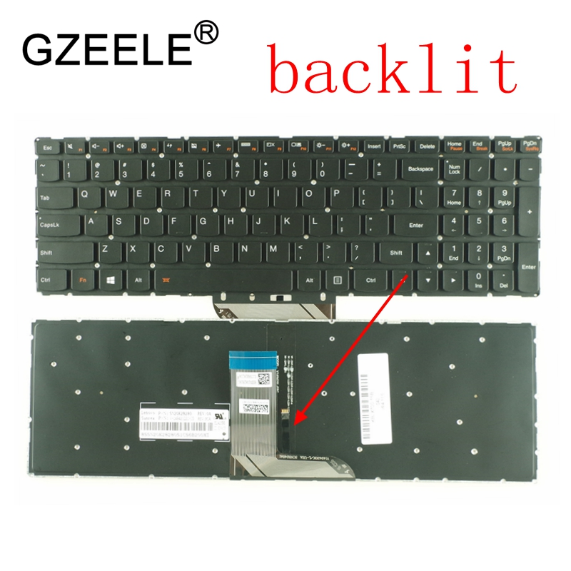 GZEELE US Laptop Keyboard For Lenovo IdeaPad 700-17ISK 700-17 700-15 700-15ISK 700S-15 700S-15IKB Flex3 1570 Series With Backlit