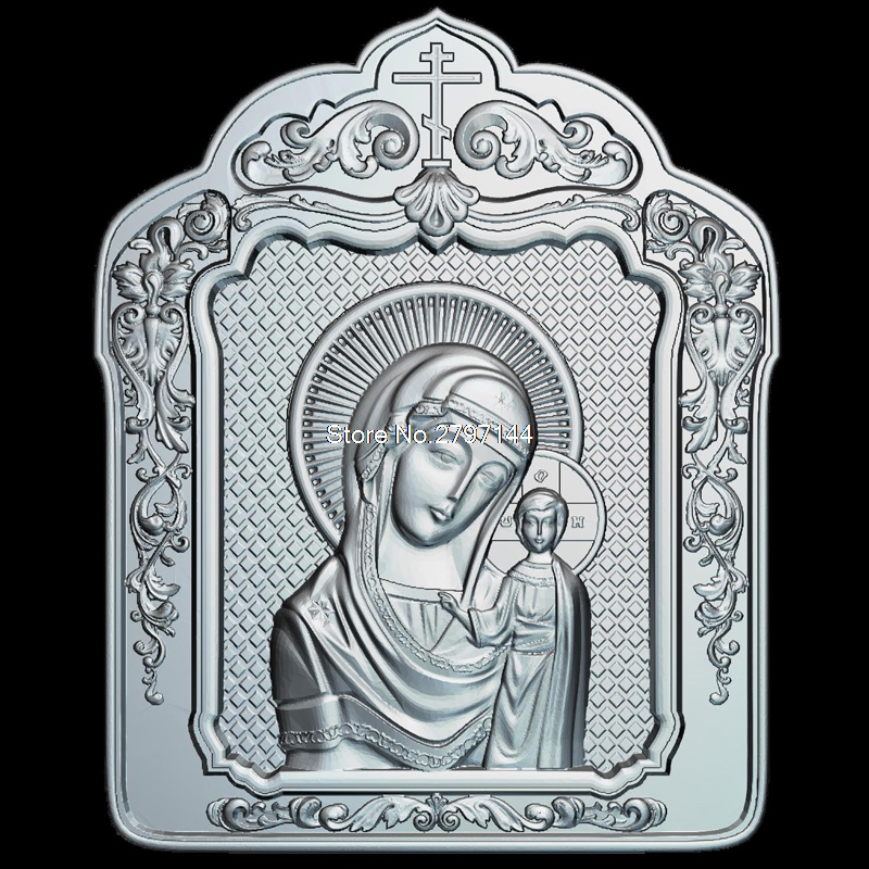 Madona_cu_Pruncul (cu_rama) 3D model relief figure STL format Religion 3d model relief  for cnc in STL file format venerable nikita stylites pereslavsky 3d model relief figure stl format religion 3d model relief for cnc in stl file format