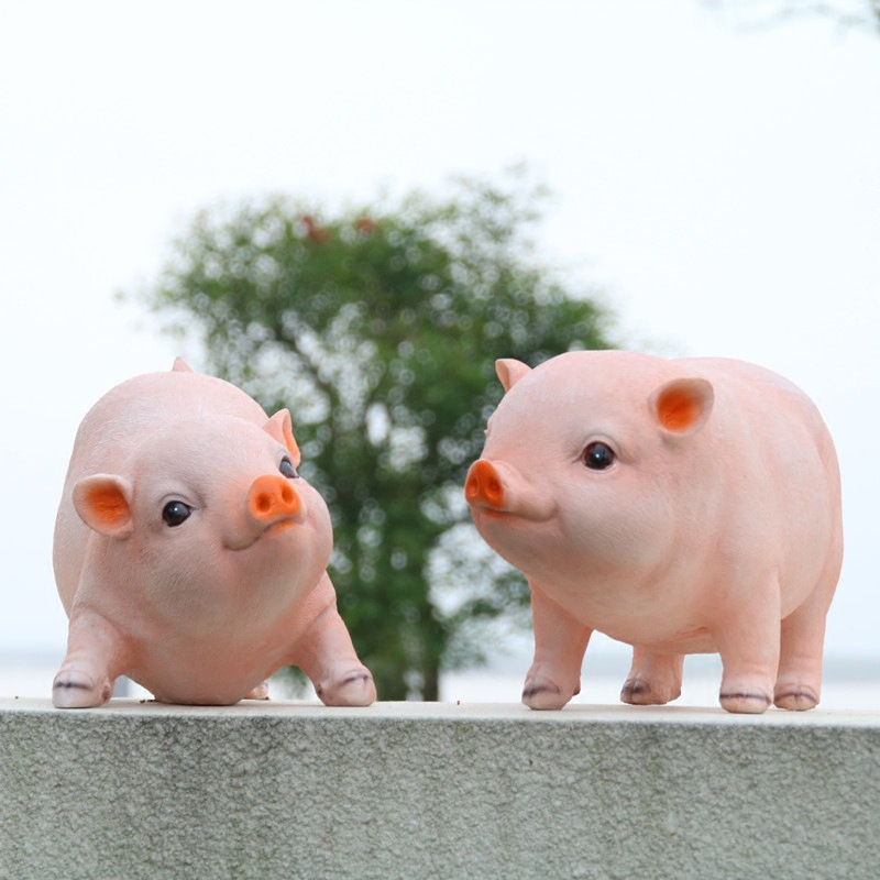 Free shipping 1 pcs Creative Garden Decoration Resin Crafts Room Ornaments Home Furnishing Pig Simulation Good for Gifts