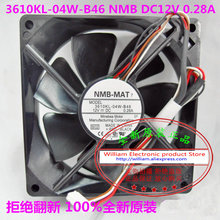 New Original NMB 3610KL-04W-B46 DC12V 0.28A 92*92*25MM Projector cooling fan