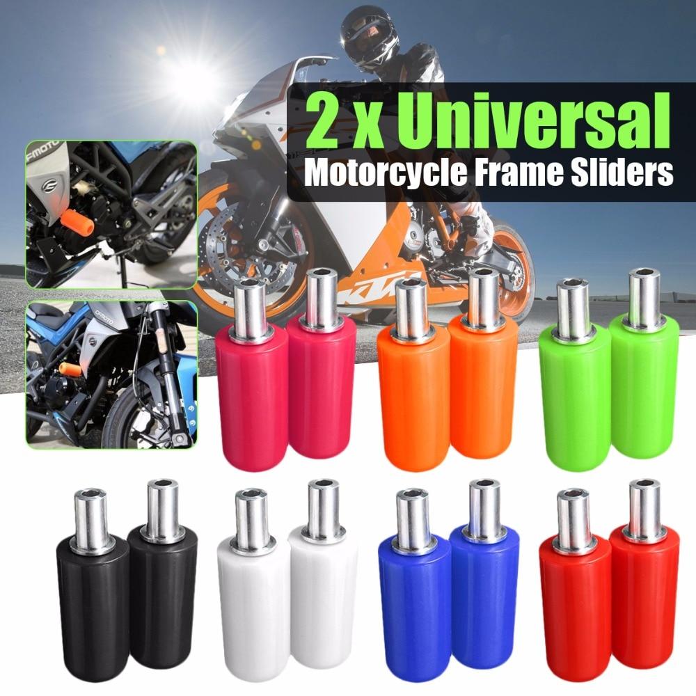 Paire universelle 10mm Moto cadre curseur Anti Crash Pad Protection chute Protection Moto pour Honda Yamaha Suzuki accessoires