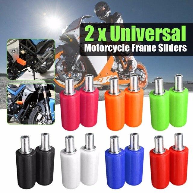 Par Universal 10mm Quadro Da Motocicleta Slider Acidente Anti Pad Protetor Queda Acessórios de Proteção Moto Para Honda Yamaha Suzuki