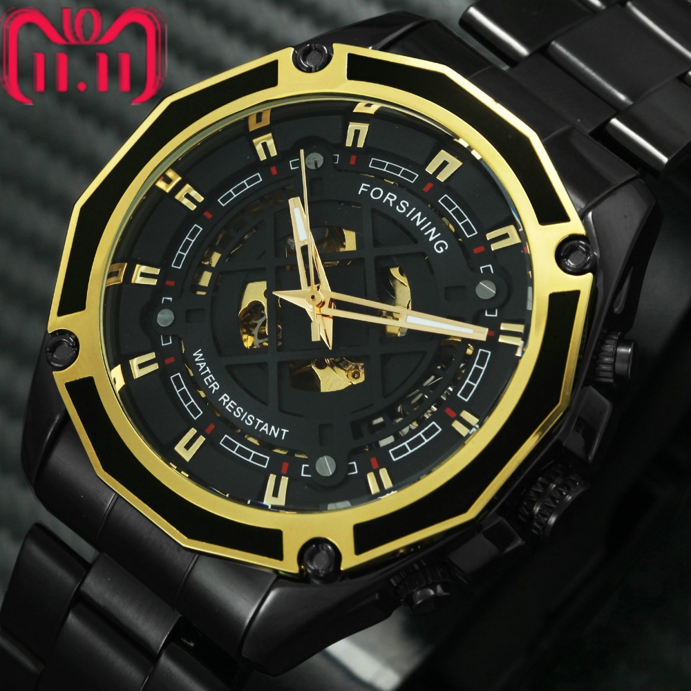 FORSINING Top Brand Luxury Blue Skeleton Auto Mechanical Watch Men Stainless Steel Strap Fashion Dress Wristwatches Waterproof цена