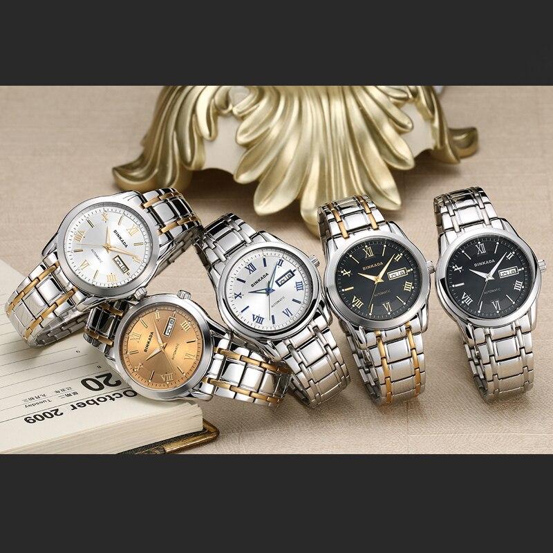 2019 NIEUWE Mode Mannen BINKADA Topmerk Goud Luxe Horloges Zelf wind - Herenhorloges - Foto 2
