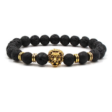 New Fashion Black Lava Stone 8mm Beads Chakra Bracelet Healing Balance for Men Women Reiki Prayer Yoga Bracelets Jewelry