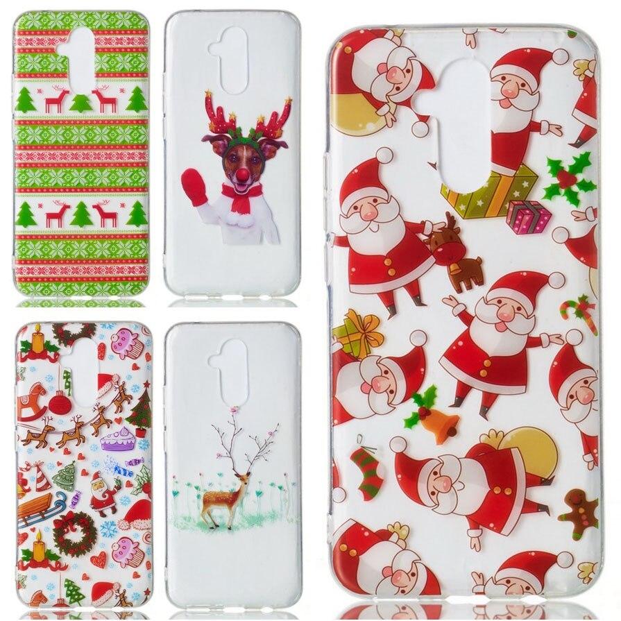 Christmas Deer Soft TPU Cover For Huawei Mate 20 Lite Case For Huawei Mate20 Lite New Year Xmas Gift Phone Shell Capa