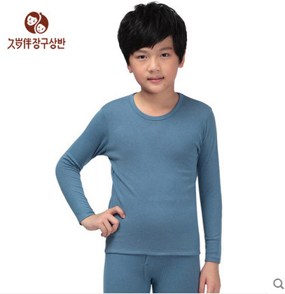 Boy's thermal underwear set kids long johns children double layers ...