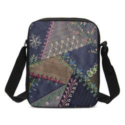 Сумки через плечо для мальчиков и девочек, модные винтажные Лоскутные Джинсовые сумки-мессенджеры с принтом, детские маленькие сумки на