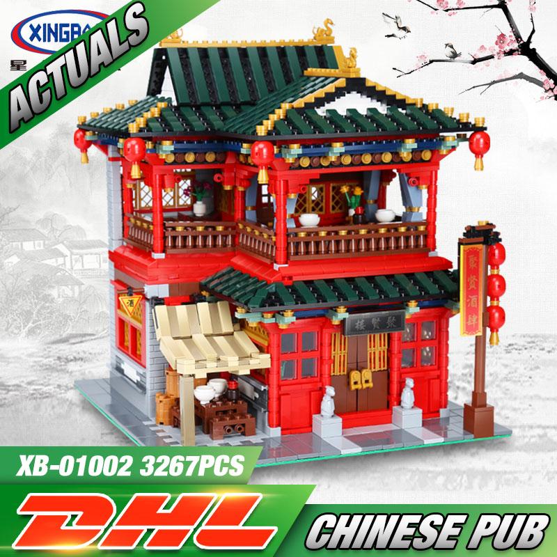 купить Xingbao 01002 3267Pcs MOC Creative Series The Beautiful Tavern Set Children Building Blocks Bricks Educational Toys Model Gifts недорого