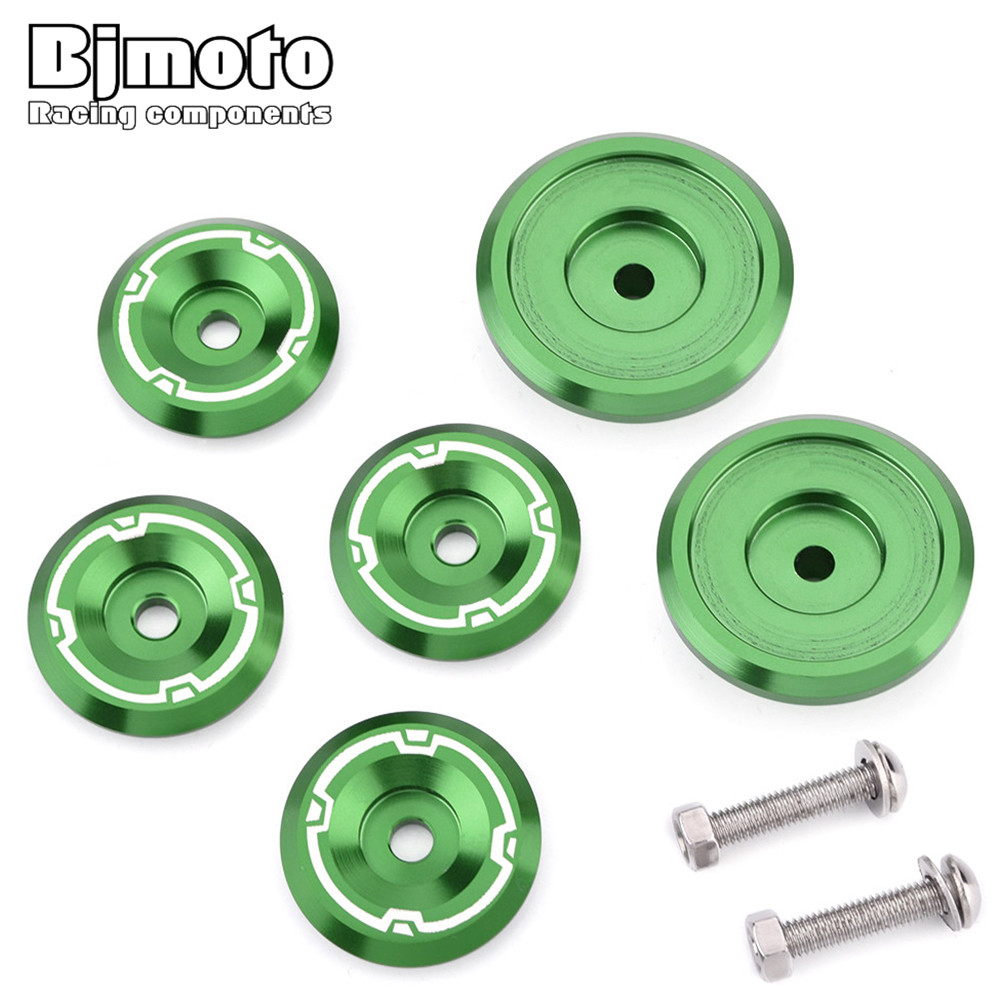 BJMOTO CNC Aluminum Motorcycle Engine side cover Camshaft Oil cap screw Frame Hole Cover Cap For Kawasaki Z900 Z 900 2017 2018 bjmoto cnc aluminum motorbike accessaries motorcycle engine guard cover pad for kawasaki z1000 r 2010 2011 2012