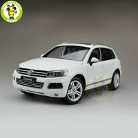 1:18 welly 11005 W VW Volkswagen Touareg Suv Diecast Modelo Do Carro Branco