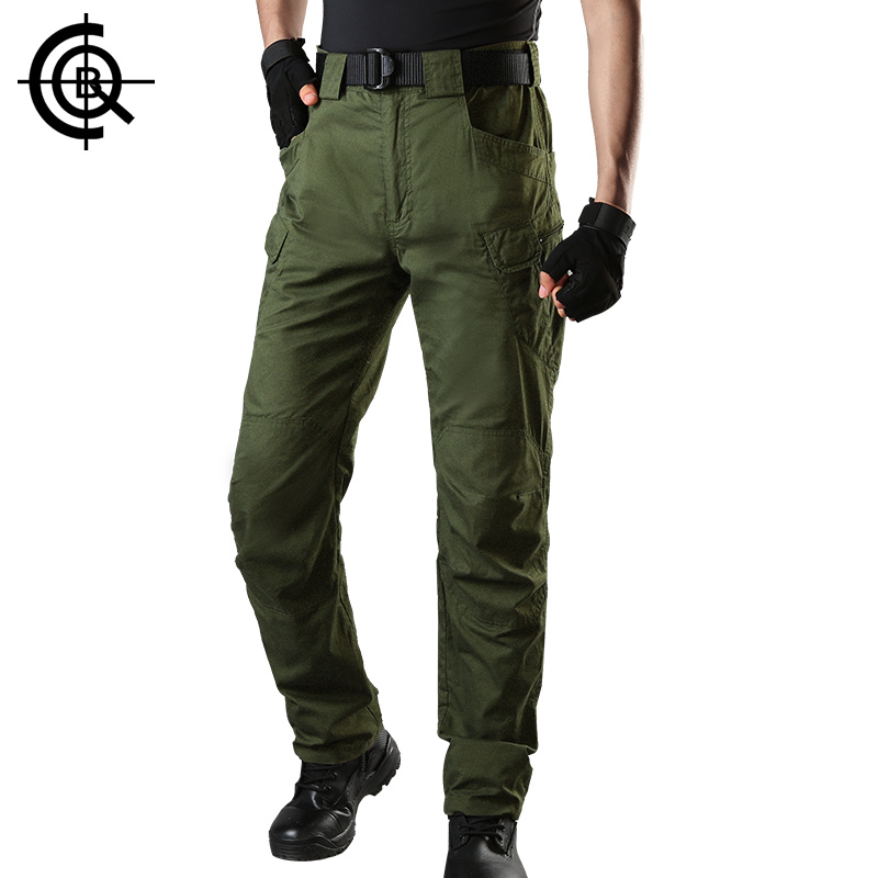 CQB  Outdoor IX7 Cotton Hiking Pants Men Water repellent Climbing Trekking Slim Fit Multiple Pockets Big Size Trousers CKZ0823