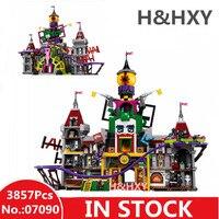 В наличии H & HXY Горячая 07090 3857 шт. супер герой серии Джокер усадьба комплект 70922 Лепин Модель Строительство блоки кирпичи подарки