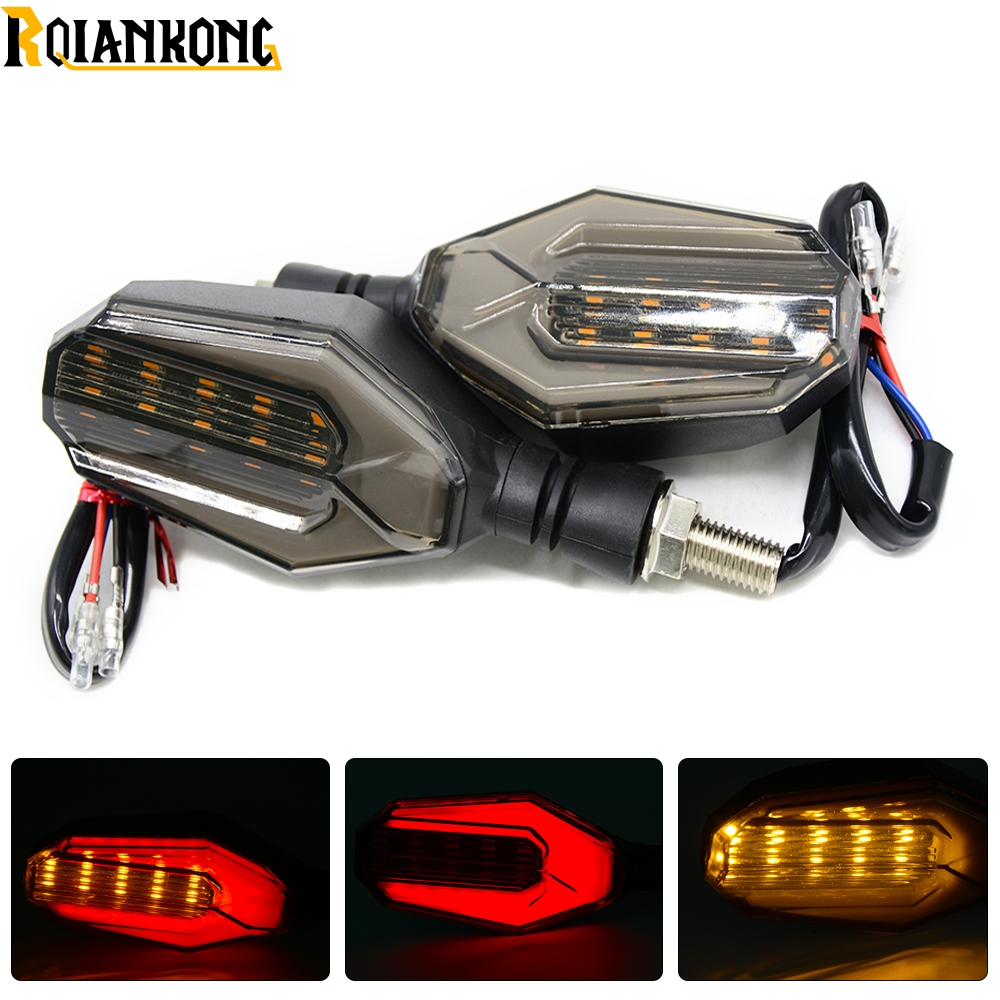 1 Pair Motorcycle Dual Sport Turn Signal LED Light For Suzuki DR DRZ GS GSXR 600