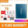 Samsung Portatile SSD T5 500GB 1TB 2TB Esterno A Stato Solido HD Hard Drive USB 3.1 Gen2 (10 Gbps) per il computer portatile e pc