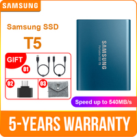 Samsung portátil SSD T5 250 GB 500 GB 1 TB 2 TB externo estado sólido HD disco duro USB 3,1 gen2 (10 Gbps) para ordenador portátil y pc