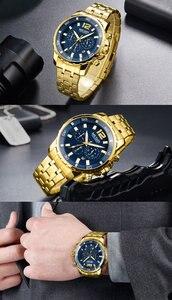 Image 4 - MEGIR גברים שעון יוקרה למעלה מותג הכרונוגרף לוח שנה שעוני יד צבאי ספורט מלא פלדה חדש זכר שעון Relogio Masculino 2068