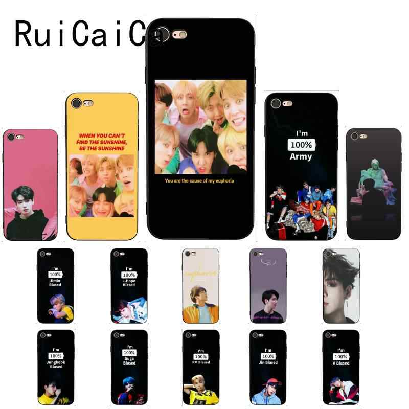 Ruicaica KPOP Euphoria Jungkook fashion Black Phone Case Cover for iPhone 8 7 6 6S 6Plus X XS MAX 5 5S SE XR Cover