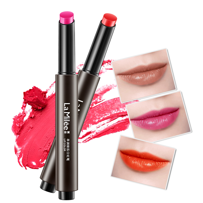 6486b63ae03bc US $2.2 78% OFF|LAMILEE Brand Push Button Press Matte Lipstick Cosmetic  Tint Color Balm Beauty Makeup 7 Color Long Lasting Sexy Lips Waterproof -in  ...