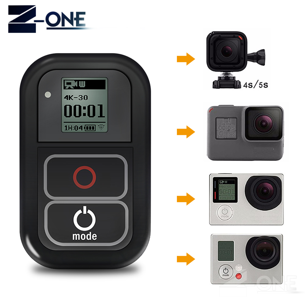 SONOVEL0.8 Inch Waterproof Wireless Wifi Remote Control for Gopro Hero 5 4 3+/3 with USB Charger Cable Remote Go pro Accessories for gopro hero 5 4 3 3 remote control silicone case charger cable wrist strap lock 5 in 1 for go pro 4 3 3 session accessories