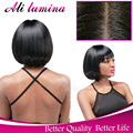 Short Glueless Lace Front Synthetic Women Wigs Ombre Blonde Bob Straight Natural Cheap Hair Wig African Wigs For Black Women
