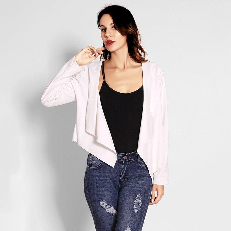 Fashion Women Irregular Faux Suede Leather Revers Coat   Basic     Jacket   2018 Autumn Turn-down Collar Bomber Windbreaker Slim   Jackets