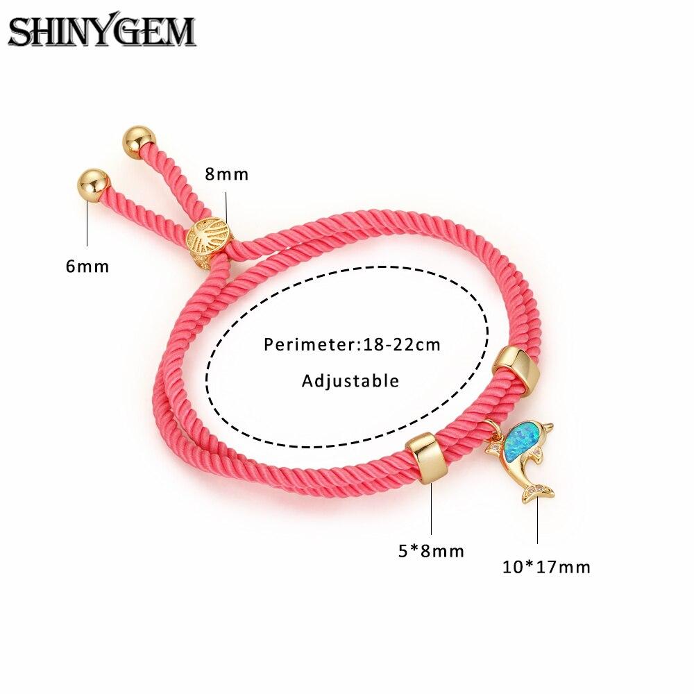 Dolphin Bracelet Handmade Adjustable Red Cord