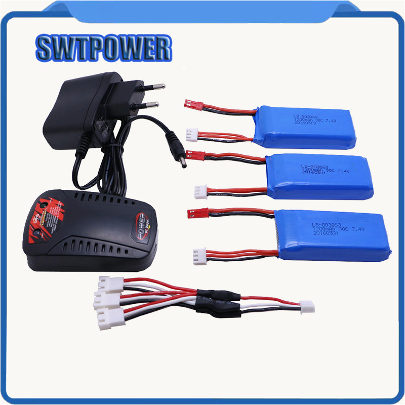 3pcs Battery+charger New Original A949 A959 A969 A979 Wltoys K929 1/18 RC Car Battery 7.4V 1200mAh LiPo for RC car Wltoys