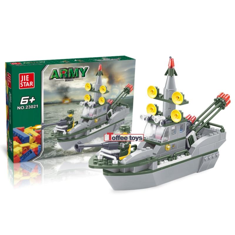 Police Coast Guards ship 167pcs Building Block Sets Educational DIY Bricks Toys birthday present Christmas gift