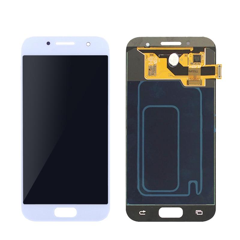 Luminosité réglable A3 2017 LCD pour Samsung Galaxy A3 2017 A320 A320F LCD écran tactile numériseur assemblée