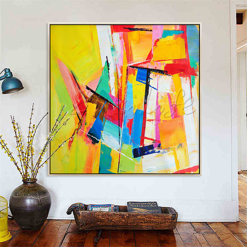 Hand Painted Canvas Oil Paintings Cheap Large Modern