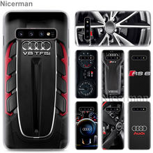 Phone Case for Samsung Galaxy S10e S10 S8 S9 Plus S6 S7 Edge A40 A50 A70 M20 Cover for Audi Car RS Logo Hard PC Case(China)
