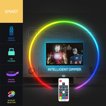 TV Led Strip lights RGB Color Changeable for 40-60 inch HDTV 6.6ft USB Powered 5V LED with RF Remote,TV Backlight Kit