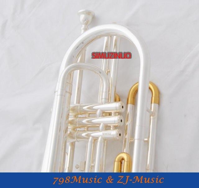Профессиональный походный тромбон B-плоские Фирменная Новинка с серебряным покрытием чехол