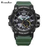 Bounabay спортивные водонепроницаемые часы для мужчин оригинальный человек Просмотрам Мужские лучший бренд часы WR50M Спорт Японский часовой ме...
