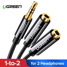 Ugreen Headphone Splitter Kabel Audio 3.5 Mm MALE To 2 Female Jack 3.5 Mm Splitter Adaptor Kabel Tambahan untuk iPhone samsung MP3 Pemain(China)