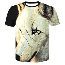 2018 men t shirt Wolf print T shirts 3D Men T-shirts Novelty Animal Tops Tees Male Short Sleeve Summer O-Neck funny lion Tshirts цена