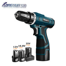Longyun 12v 16.8v 25v Rechargeable Lithium Battery spare Electric Drill Home improvement cordless Electric Screwdriver(China)