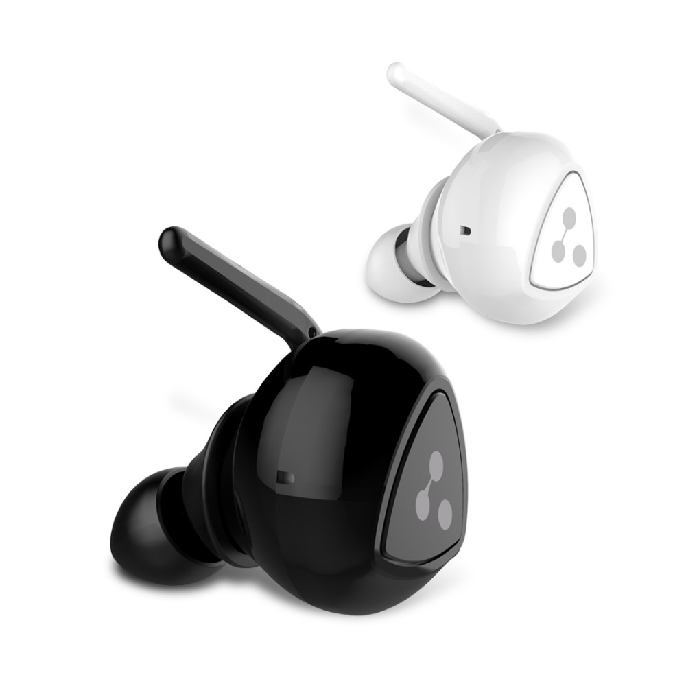 DHL Free 100% Original D900mini Bluetooth Stereo Earphone Wireless Music Headset Handsfree Mini Earbud Black&White With Box цена