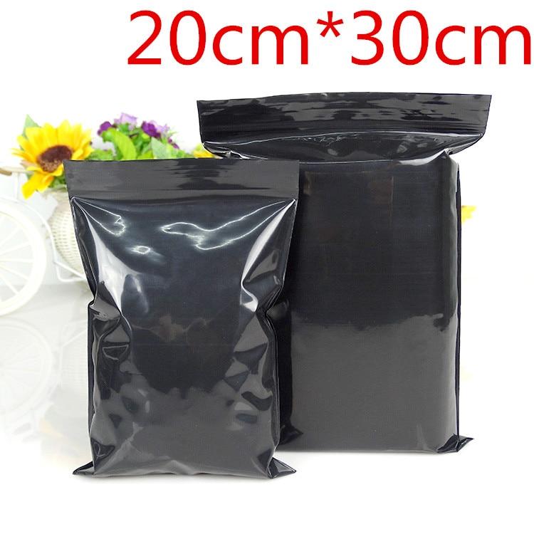 The Wholesale House >> Wholesale 20cm*30cm Zipper Top Grip Seal Retail Packaging Packing Ziplock Pouches Black Zip Lock ...