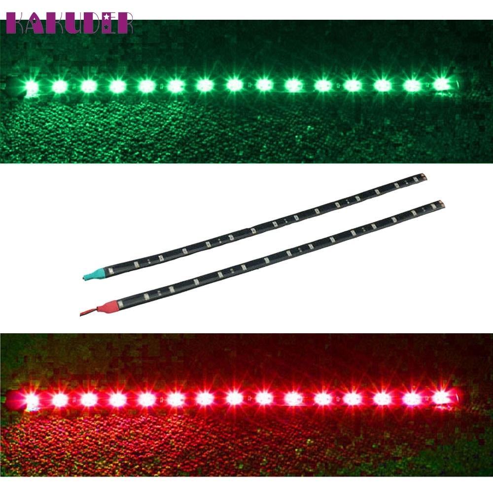 NEW  2x Boat Navigation LED Lighting RED & GREEN Waterproof Marine LED Strips fashion hot L701 автоинструменты new design autocom cdp 2014 2 3in1 led ds150