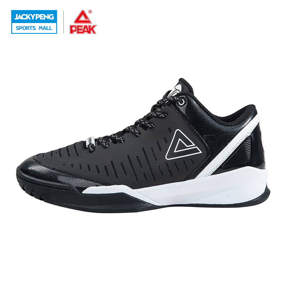 PEAK SPORT Authent Tony Parker II Simple Edition Men Basketball Shoes Wear-resistant Athletic Training Boots Sneaker EUR 40-47 peak sport men outdoor bas basketball shoes medium cut breathable comfortable revolve tech sneakers athletic training boots
