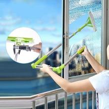 جديد تلسكوبي ارتفاع تنظيف الزجاج ممسحة الاسفنج فرشاة تنظيف متعددة غسل النوافذ فرشاة الغبار سهلة التنظيف ويندوز Hobot